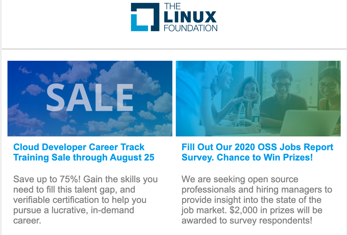 Linux Foundation Newsletter: August 2020
